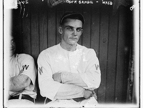 """Arnold """"Chick"""" Gandil of the Chicago White Sox meets with gambler Joseph Sullivan and talks about """"fixing"""" the upcoming World Series"""
