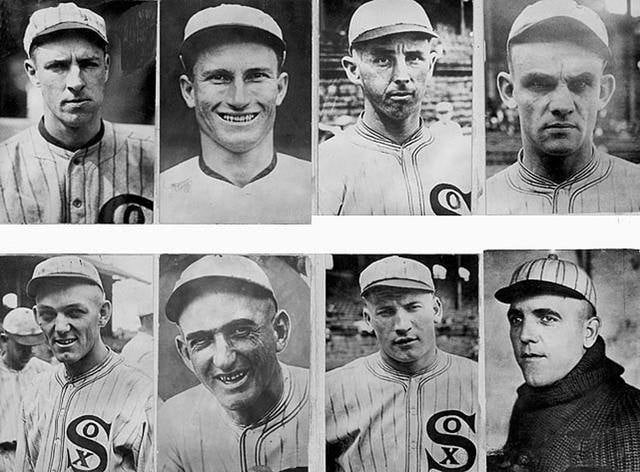 Eight members of the Chicago White Sox are indicted for throwing the 1919 World Series