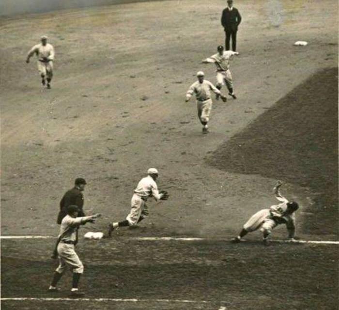 1920– Before the start of theWorld Series,BrooklynownerCharles Ebbetsgives his approval for the addition of rookieJoe Sewellto theIndians'roster. Sewell joined the team afterSeptember 1stand was not eligible for the series. The tradition of low-scoringWorld Seriesgames continues when theCleveland Indiansmanage to collect only five hits offBrooklyn RobinsstarterRube Marquardand two relievers.Stan Coveleskigives the Indians a 3 – 1 opening victory with a five-hitcomplete game
