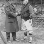 John McGraw of the Giants and Jack Slattery from the Boston Braves on opening day