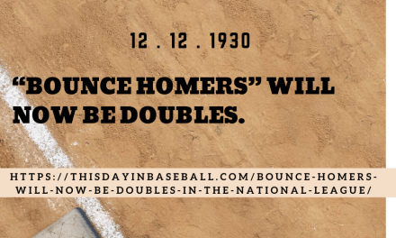 """Bounce homers"" will now be doubles in the National League"