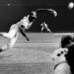 Bob Gibson threw his fifth consecutive shutout