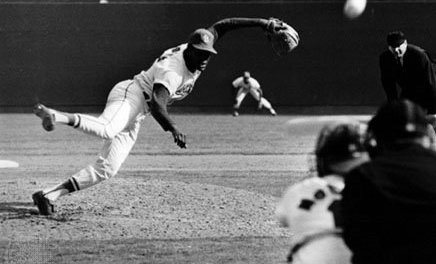 Bob Gibson of the St. Louis Cardinals shuts out the Houston Astros, 1-0, to finish the season with an ERA of 1.12