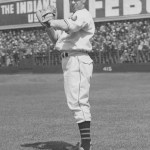Cleveland's Bob Feller strikes out 16 Red Sox, one less than his own American League record, in an 8 - 1 victory.