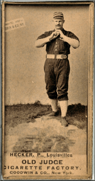 PitcherGuy Heckerhas one of the greatest days ever – at the plate – in the second game of a doubleheader betweenLouisvilleandBaltimorein theAmerican Association. In 7 at-bats, he hits three singles and three homers, accumulating 15 total bases. He scores a record 7 runs, as he reaches base on an error in his other at-bat. Louisville wins easily, 22 – 5.