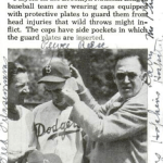 Dodgers debut protective head gear 1941