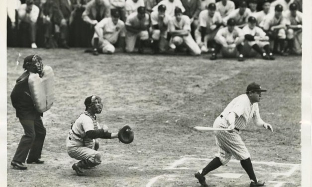 Walter Johnson pitching to Babe Ruth is the pregame attraction that draws 69,000  at Yankee Stadium