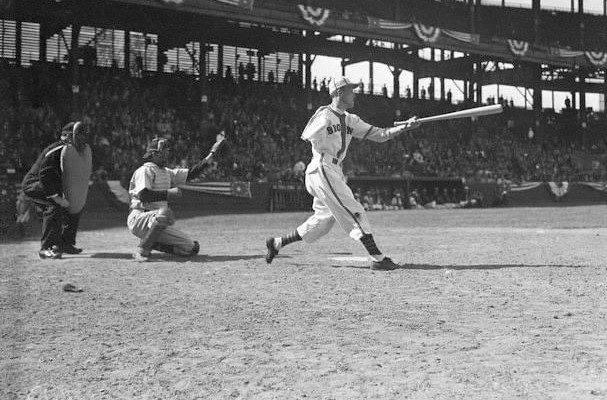 Pete Gray, a one-armed outfielder, plays his major league debut game with the St. Louis Browns at Sportsman's Park. Gray hits a single off Les Mueller in four at-bats, and handles no chances in the outfield. St. Louis beats the Detroit Tigers, 7 – 1, for their ninth straight Opening Day win, setting a major league record that the 1975-1983 New York Mets will tie. Gray, one of many players recruited to perform during World War II, will hit .218 (51 for 254) in his only major league season.