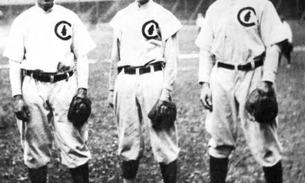 Joe Tinker, Johnny Evers, and Frank Chance are inducted into the Hall of Fame together
