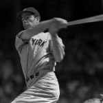 Joe DiMaggioof theNew York Yankeeshits for thecycleand collects six RBI in a 13 - 2 victory over theChicago White Sox. DiMaggio hits two home runs, a triple, a double and a single, and narrowly misses another extra-base hit when Chicago left fielderRalph Hodginmakes a spectacular catch at the wall.