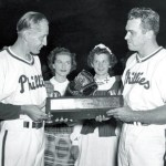On November 10, 1950 -- Seventeen months after nearly being mortally wounded by an obsessed fan's rifle shot to the chest, Eddie Waitkus is named the Comeback Player of the Year by the Associated Press. The Phillies' infielder hit .284 this season and continued to be one of the best fielding first basemen in the league.
