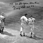 Using four home runs fromStan Musial,Bob Elliott,Ralph KinerandGil Hodges, theNational LeagueAll-Starsdefeat theAmerican Leagueat Detroit'sBriggs Stadiumin the1951 All-Star Game. Kiner hits a home run for the third year in a row.