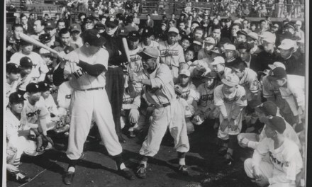 Joe DiMaggioaccompaniesLefty O'Doul's All-Stars on a tour ofJapan. They will win 13 of the 15 games played.