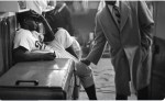 Jackie Robinson after game y of the world series