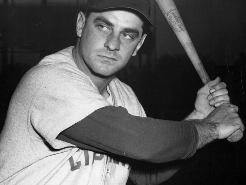 1954 – At Crosley Field' the Redlegs' Ted Kluszewski hits 2 home runs to break his own club mark of 40 homers. He will wind up with 49 for the season. Despite the Klu clouts' Cincinnati loses to Philadelphia' 9 – 3. In a pre-game stunt' Reds catcher Hobie Landrith catches a ball dropped out of a helicopter hovering some 500-600 feet over the field.