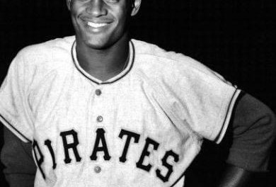 Roberto Clemente makes his major league debut for the Pittsburgh Pirates