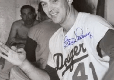 After losing the opener to theCubs, theDodgerswin the nitecap, 16 – 9, as pitcherClem Labinegets his 3rd home run of the year. Labine has just three hits all year, but all three are homers.
