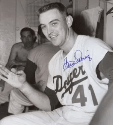 After losing the opener to the Cubs, the Dodgers win the nitecap, 16 – 9, as pitcher Clem Labine gets his 3rd home run of the year. Labine has just three hits all year, but all three are homers.