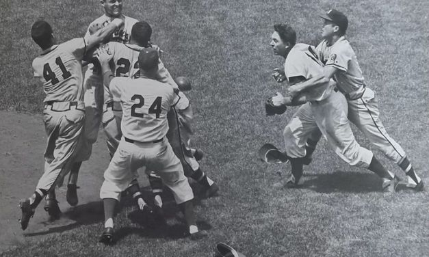 Johnny Logan and Don Drysdale ejected for fighting
