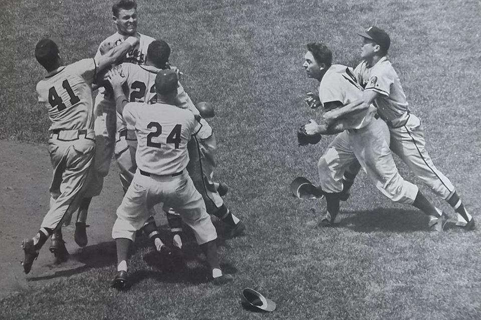 Johnny LoganandDon Drysdaleejected for fighting
