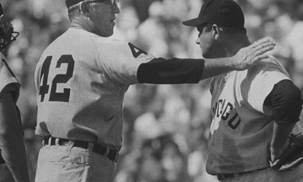 New York routs White Sox starter Early Wynn for a 12 – 5 victory. In the 3rd inning, Mickey Mantle legs out his third inside-the-park home run in a month.