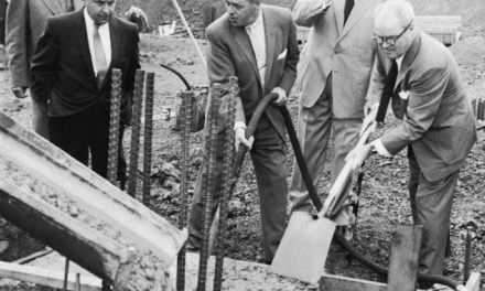 On Candlestick Point, an area in which the rocks resembled candlesticks, construction begins on the Giants' new ballpark in San Francisco. The transplanted team will play their games at Seals Stadium until a new ballpark on the eastern shore of the San Francisco Bay is ready.