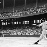 Ted Williams becomes the first major leaguer tohomer in four different decadeswhen he blasts a pitch from Senators' right-hander Camilo Pascual 500 feet over the center field wall for the only run in the Red Sox's 10-1 Opening Day loss at Griffith Stadium. In 1939, the then 20 year-old 'Kid' hit the first of his 521 career round-trippers, a first-inning two-run shot off Philadelphia's Bud Thomas at Fenway Park.