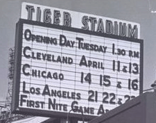 Detroit's Briggs Stadium is renamed Tiger Stadium