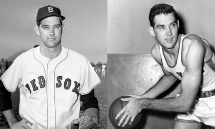 Gene Conley pitches for Red Sox after winning NBA title