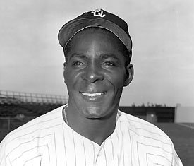 Minnie Minoso of the Chicago White Sox becomes the second player to play in five decades