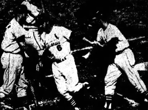 Stan Musial becomes the first grandfather in big league history to hit a home run