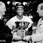 Triple Crown winner Frank Robinson of the Baltimore Orioles is the unanimous choice as American League MVP. He becomes the first major league player to win the award in both leagues.