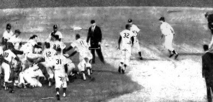 Several hit batters and brush backs pitch's – ignite Red Sox and Yankees bench clearing brawl during 1967 game