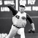 Jim Maloney of the Cincinnati Reds pitches a 10-inning no-hitter against the Chicago Cubs