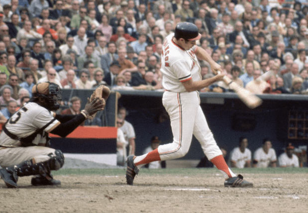 Brooks Robinson of the Baltimore Orioles sets a World Series record by reaching base five consecutive times against the Pittsburgh Pirates