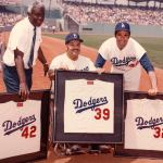 Dodgers retire 3 numbers Koufax, Robinson and Campanella