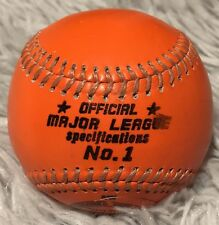 Orange baseballs are used for the first time in major league history