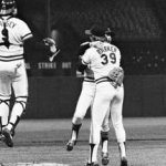 Dick Bosman of the Cleveland Indians hurls a no-hitter