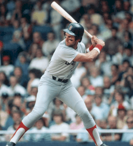 Boston Red Sox rookie Fred Lynn drives in 10 runs