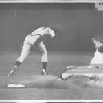 Jerry Koosman steals second base and pitches a complete game in a 3 - 1 New York Mets victory over the Cincinnati Reds.