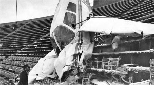 plane crashes into On December 19, 1976 — A single-engine Piper Cherokee plane crashes into the upper deck of Baltimore's Memorial Stadium, home of the Orioles