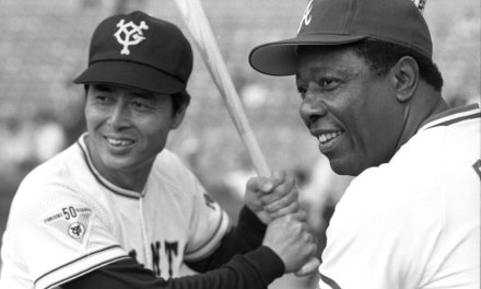 Japanese baseball legend Sadaharu Oh belts his 500th home run