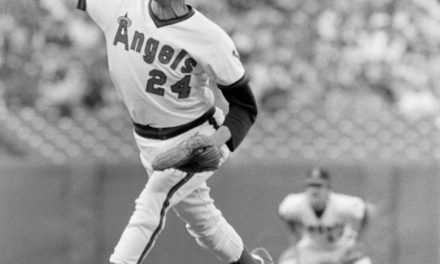 California Angels pitcher Bruce Kison losses no hitter with one out in the 9th for the second time this season