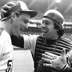 Montreal Expos right-hander Charlie Lea pitches the first no-hitter in the history of Olympic Stadium