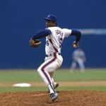 Dwight Gooden, going the distance in the Mets' 3-0 victory over San Francisco at Shea Stadium en route to his 13th consecutive win, whiffs 16 batters to become the first National League pitcher to strike out 200 or more batters in each of his first two seasons. The 20 year-old sophomore, who has not lost since May 25, when LA's Fernando Valenzuela beat him, improves his record to 19-3 with his sixth shutout of the year.