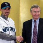 The Mariners sign Orix Blue Wave's Ichiro Suzuki to a three-year deal making him the first Japanese position player in major league history. Seattle agrees to pay $13 million to his former team for the right to negotiate with Japan's best hitter.