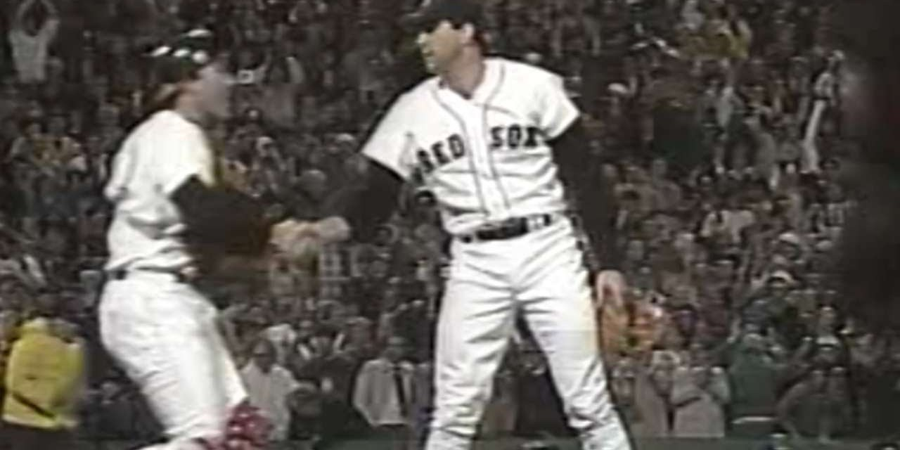 At Fenway Park, Bruce Hurst's complete game victory gives the Boston Red Sox a 4 – 2 win and 3-2 lead in the World Series