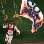 Michael Sergio, a Mets fan who parachuted into Shea Stadium during Game 6 of the World Series, is sentenced to 100 hours of community service and fined $500.