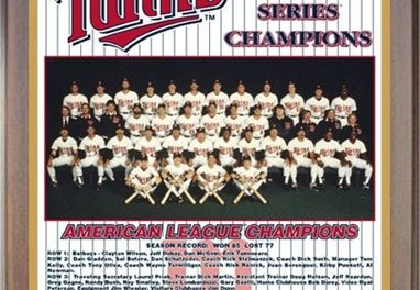 Minnesota Twins win the first World Championship in franchise history
