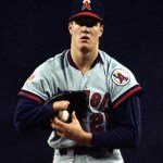 one-handed pitcher Jim Abbott makes his major league debut for the California Angels